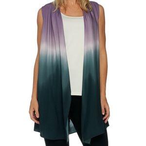 LOGO by Lori Goldstein tie dye vest size L
